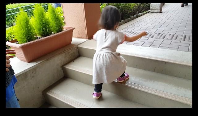 一人で階段登れた