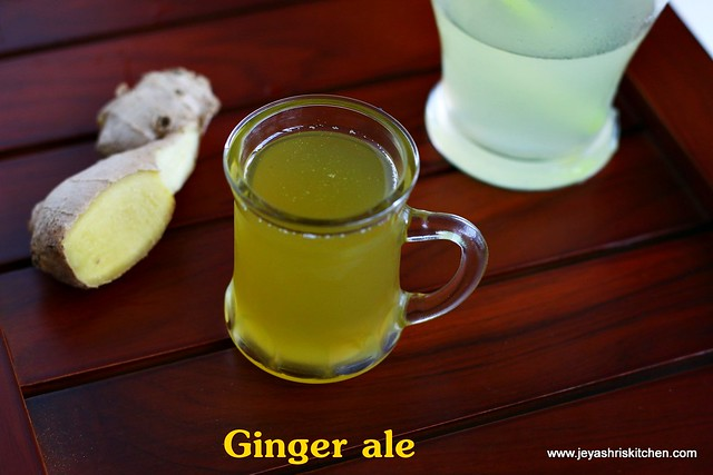 Homemade-ginger ale syrup