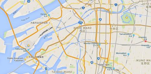 พวกสถานที่ที่เราเซฟเป็น Favourite ไว้ จะแสดงเป็นเครื่องหมายดาวบนแผนที่
