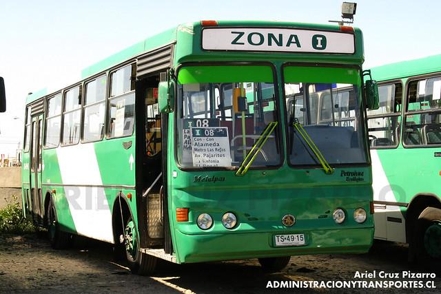Transantiago - Comercial Nueva Milenio / Buses Vule - Metalpar Petrohué 2000 / Mercedes Benz (TS4915)