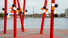 Balloons beside #Dublin's Grand Canal Dock