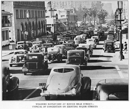 Wilshire Boulevard traffic congestion
