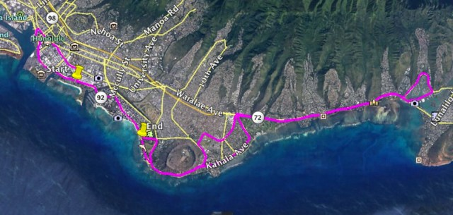 Honolulu Marathon 2016 Run Route