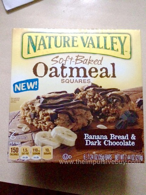 Nature Valley Banana Bread & Dark Chocolate Soft-Baked Oatmeal Squares