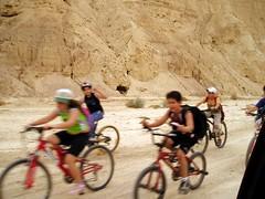 Kids biking through the Negev by mr. toaster, on Flickr
