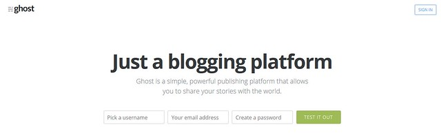 ghost just a blogging platform