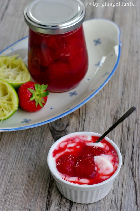 Erdbeer Limetten Kompott by Glasgeflüster 2 klein