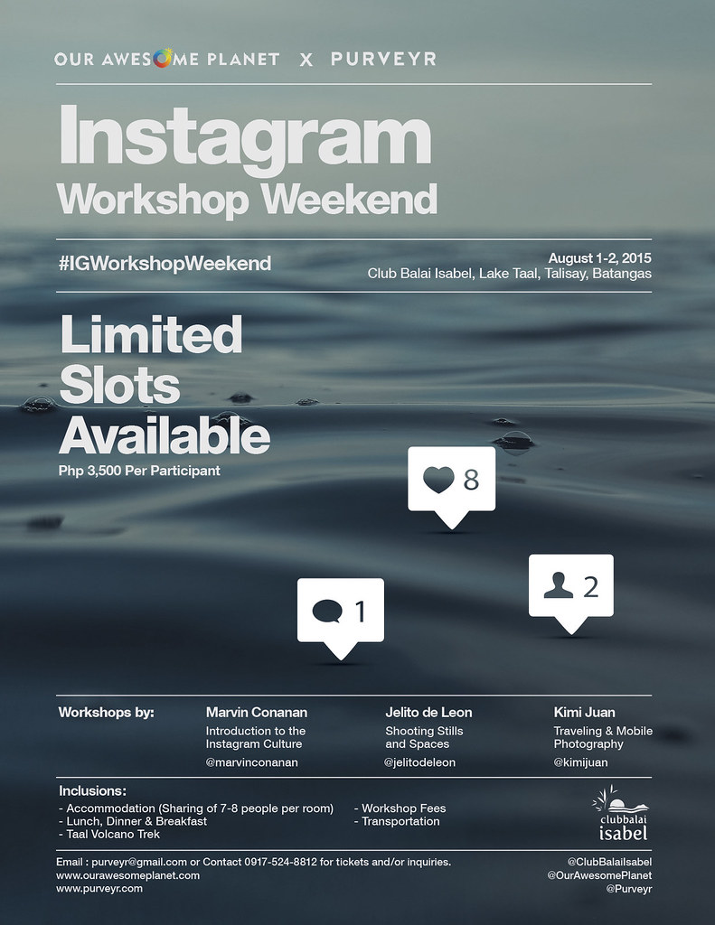 Instagram Workshop Weekend!