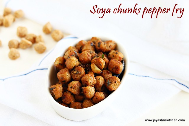 Soya chunks-pepper fry