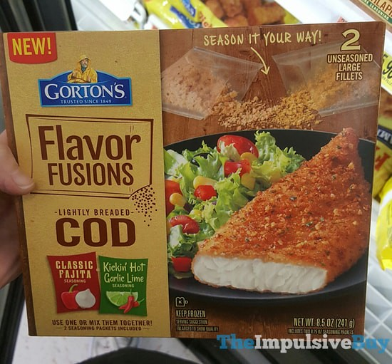 Gorton's Flavor Fusions Lightly Breaded Cod Classic Fajita-Kickin' Hot Garlic Lime