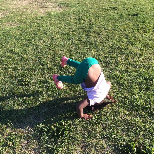 Headstand practice