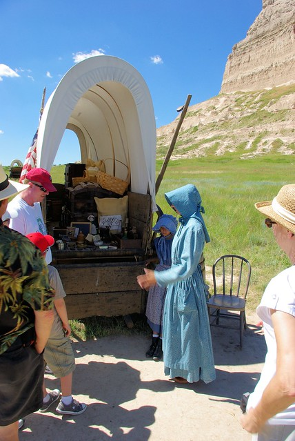 Historical Interpreters in Period Dress, Scotts Bluff National Monument, Nebraska, July 9, 2010.