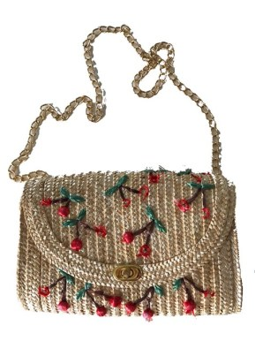 raffia chain bag from Baguio ukay-ukay