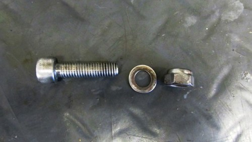 Fork Brace Bolt, Washer, Nut