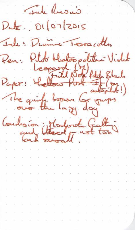 Diamine Anniversary Terracotta - Field Notes