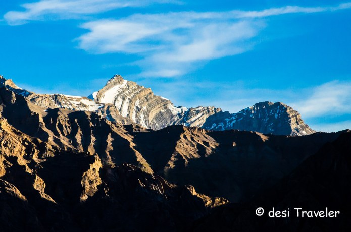 A snow clad peak in Spiti