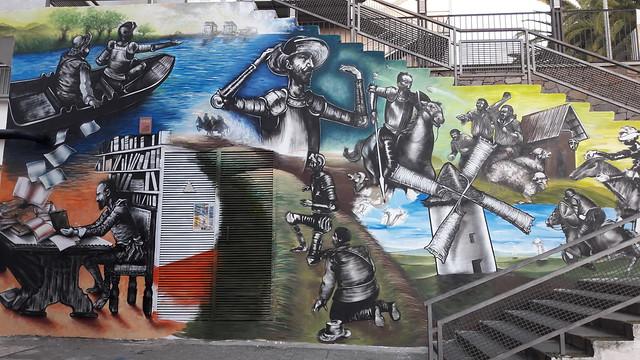 Mural El Quijote Universidad de la Laguna