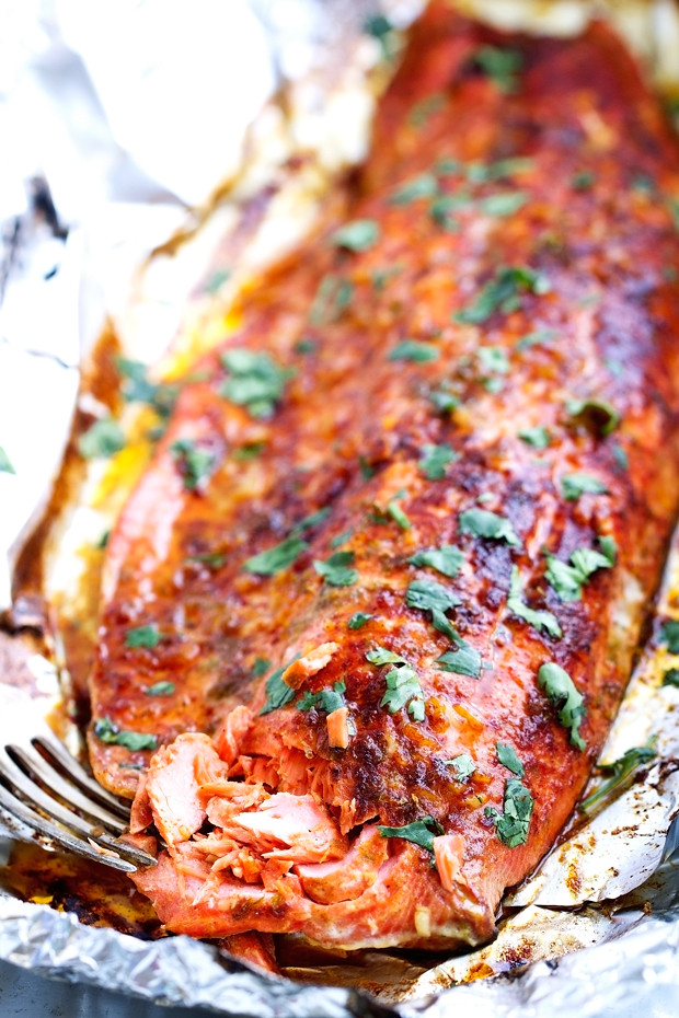 how to cook a whole salmon in the oven