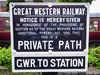 Sign at Kidderminster station