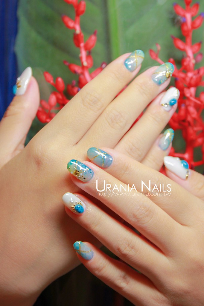 ♥ 夏日海洋風!凝膠指甲的清涼穿搭 5