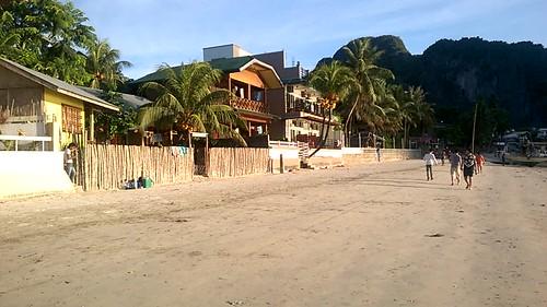 Playa del Nido al atardecer