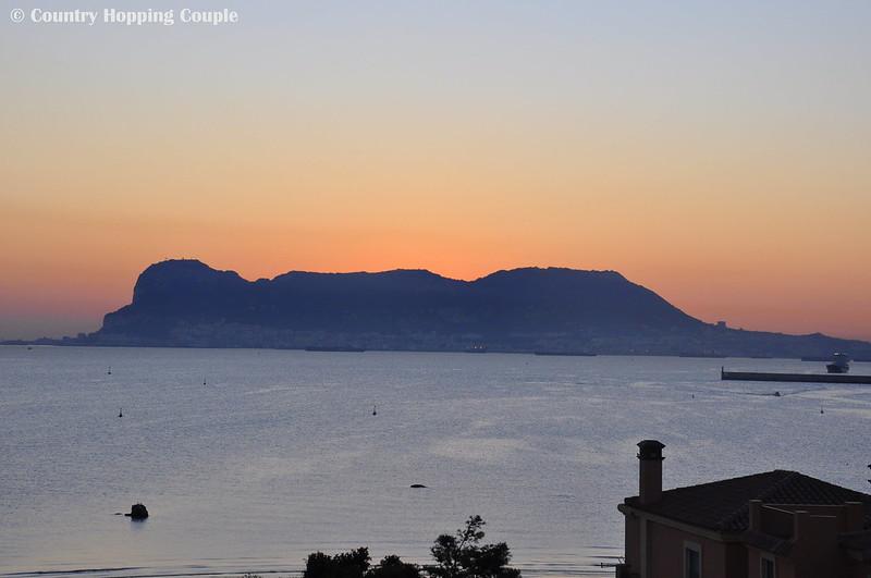 Sunrise over Gibraltor seen from Algeciras