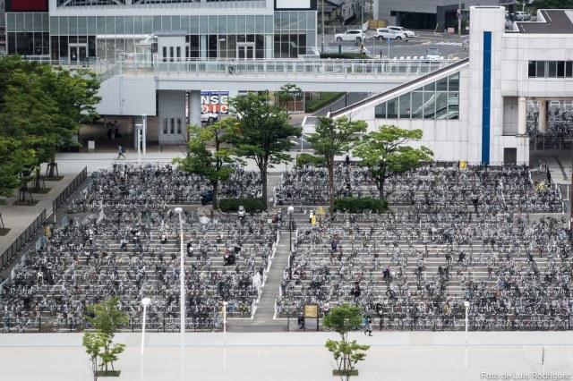Parking de bicis en Niigata