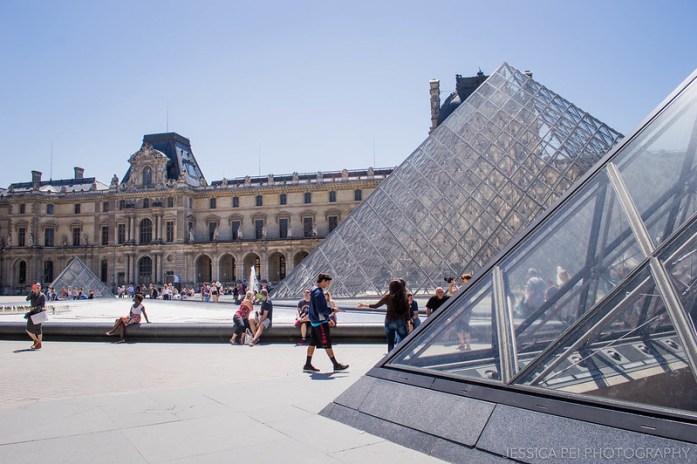 Louvre Museum Pyramids Paris