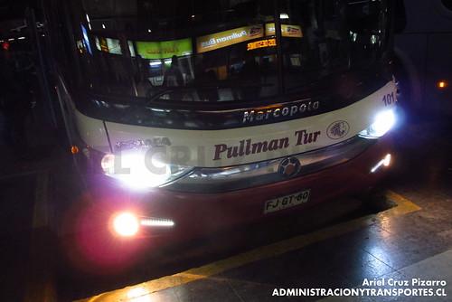 Pullman Tur - Santiago - Marcopolo Paradiso 1800 DD / Scania (FJGT60)