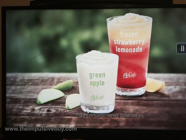 McDonald's McCafe Green Apple Smoothie