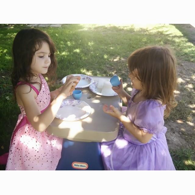 Backyard tea parties...