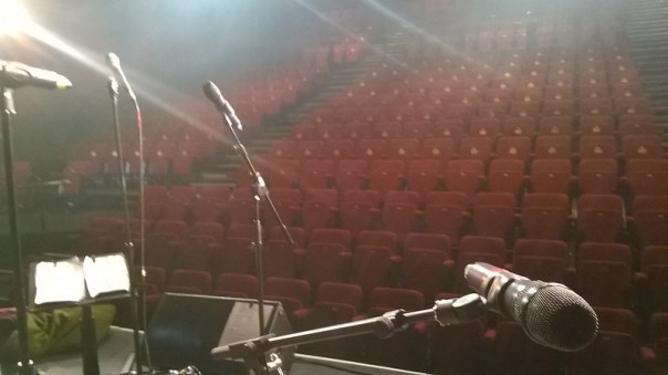 View from the stage Millfield Theatre