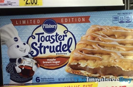 Limited Edition Pillsbury Maple Brown Sugar Toaster Strudels