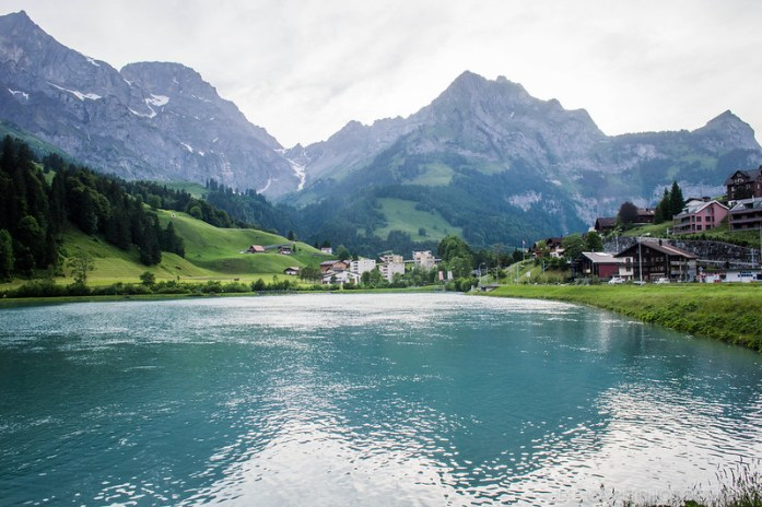 Engelberg Switzerland Mountains Lake