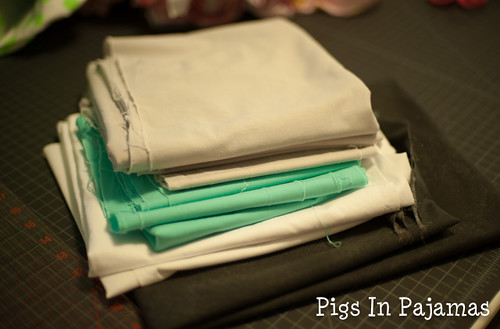 Midnight Mystery Quilt fabrics