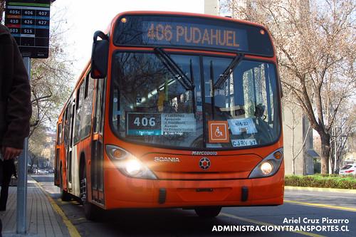 Transantiago - Express de Santiago Uno (U4) - Marcopolo Gran Viale / Scania (CJRV57)