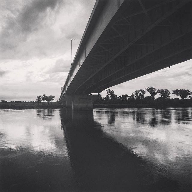 Walking along the Missouri River this morning. // #igersomaha #omaha #missouririver #bridge #omaha #bnwomaha #makemoments #momentswide #xmarksthespot