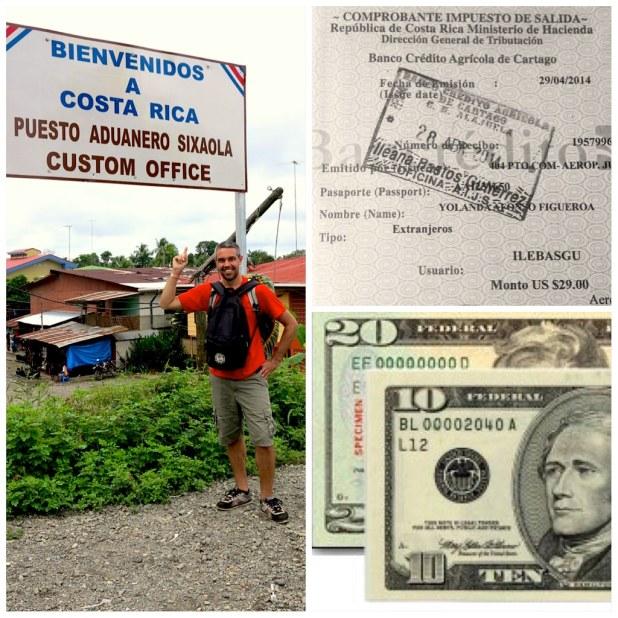 Tasa aerea Costa Rica