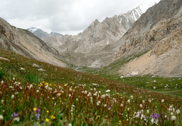 The valley below the Besh Kol lakes
