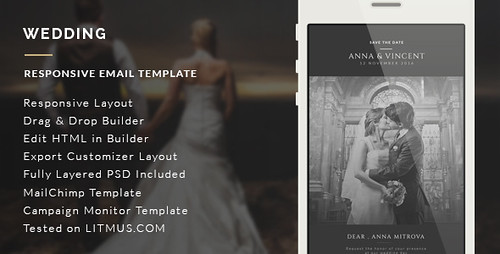 Wedding Invitation Email Template + Builder Access (Email Templates)