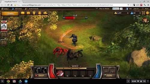 ลองเล่นเกม KingsRoad บน Acer C730 Chromebook 11