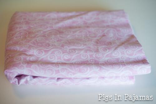 Pink flannel wide back in swirl