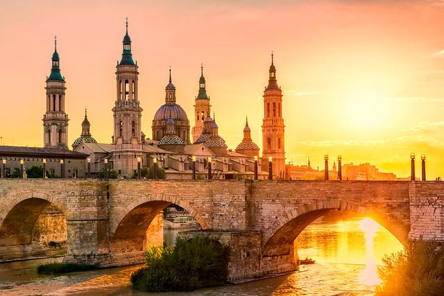 Zaragoza Pilar Sunset