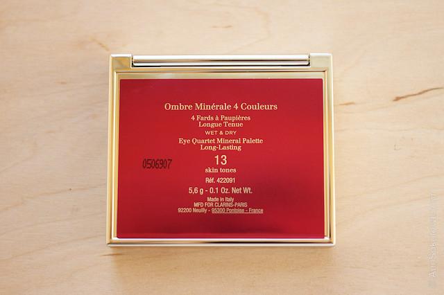 04 Clarins #13 Skin Tones Eye Quartet Mineral Palette Long Lasting Wet & Dry