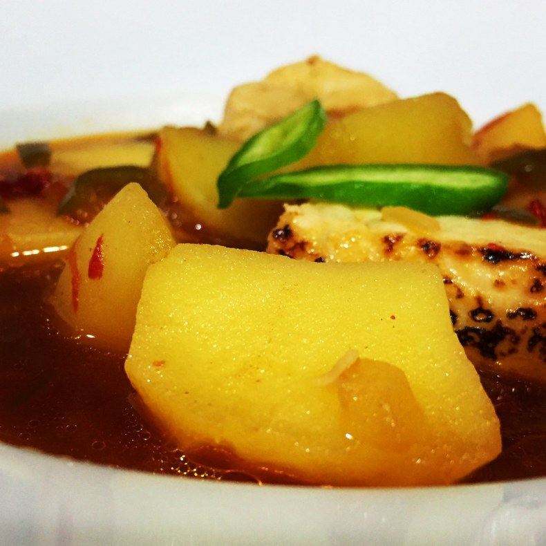 Patatas chascadas para el marmitako