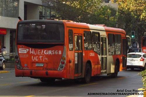 Transantiago - Express de Santiago Uno (U4) - Marcopolo Gran Viale / Scania (CJRS68)