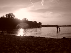 Sunset at Wannsee, Berlin