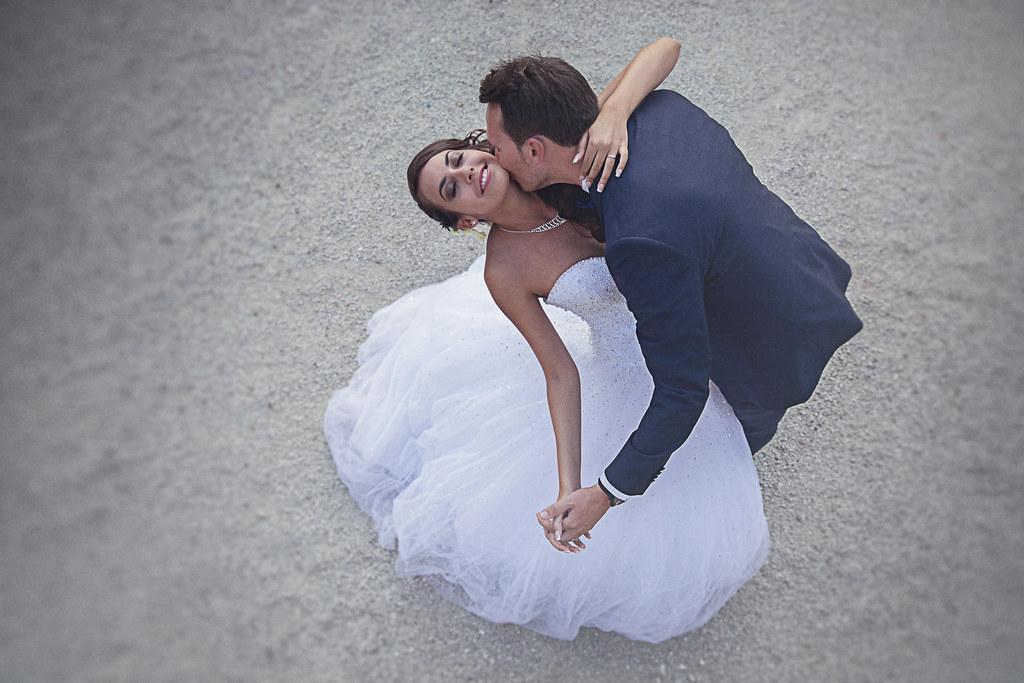 Imagen gratis de una pareja de recién casados