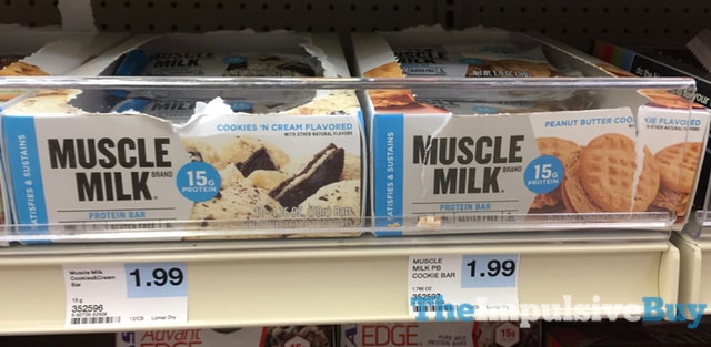 Muscle Milk Cookies 'n Cream and Peanut Butter Cookies Bars