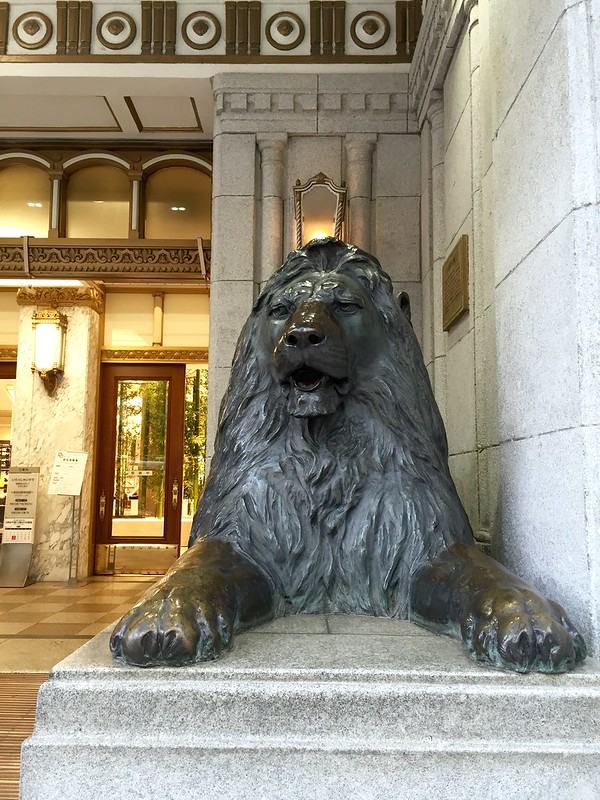 Mitsukoshi Lions inspired by the Trafalgar Square Lions